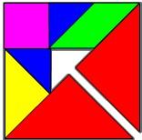 Monte com tangram
