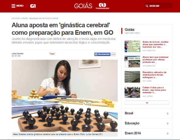 SUPERA Goias no G1