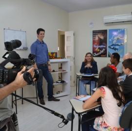 Gravação da matéria no SUPERA em Brigadeiro (SP)
