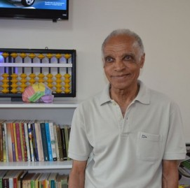 Elisiário frequenta semanalmente as aulas de ginástica cerebral no SUPERA Esplanada, em São José dos Campos