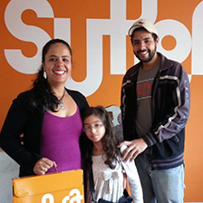Larissa Doalla de Almeida e Silva, mãe da aluna Lúcia Beatriz , do SUPERA Diamantina (MG)