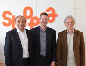 Franck Tarpin-Bernard é recebido pelo diretor e pelo presidente do SUPERA