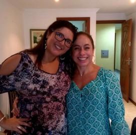 Cissa Guimarães em gravação na casa da Verônica,  aluna SUPERA