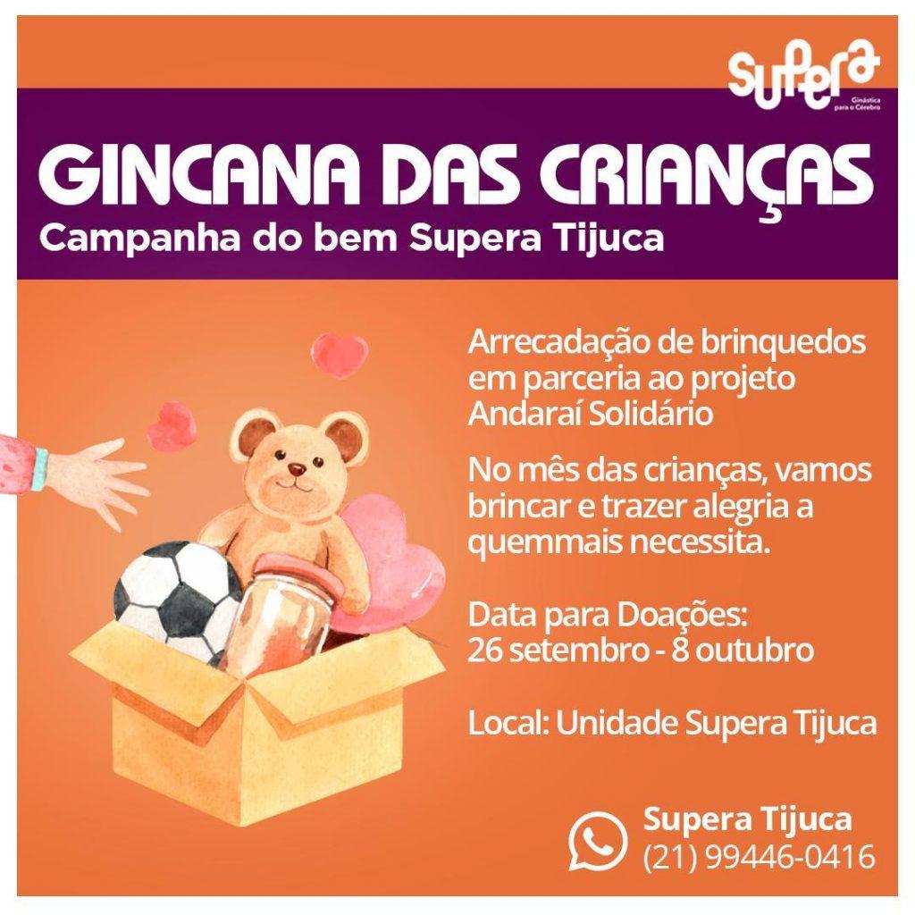 SUPERA Tijuca arrecada brinquedos para o projeto Andaraí Solidário - SUPERA - Ginástica para o Cérebro